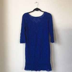 Laundry Blue Dress with floral lace serial - 0